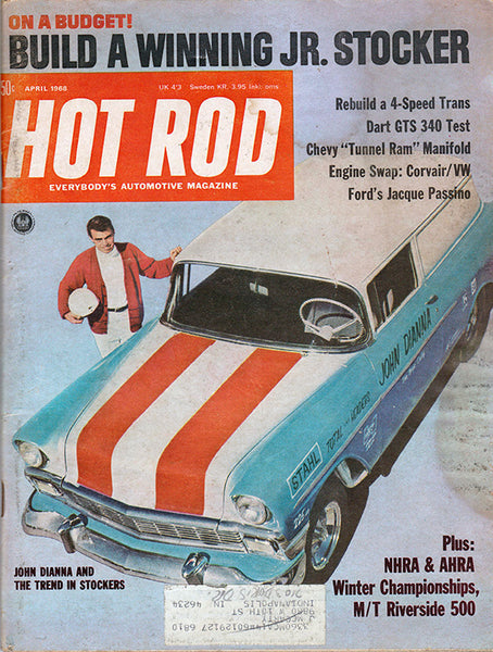 April 1968 Hot Rod Magazine Cover