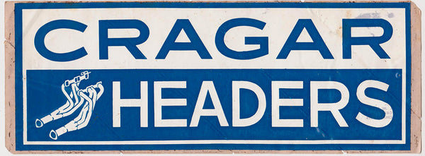 NOS Vintage Cragar Headers Sticker 1970's