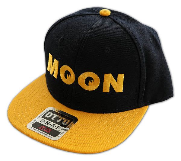 Moon Wool Flat Visor Hat Black and Gold Front - Nitroactive.net