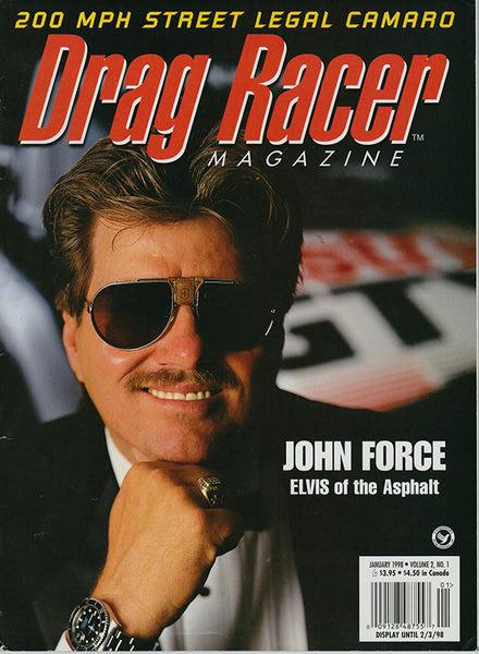 January 1998 Drag Racer Magazine Cover John Force