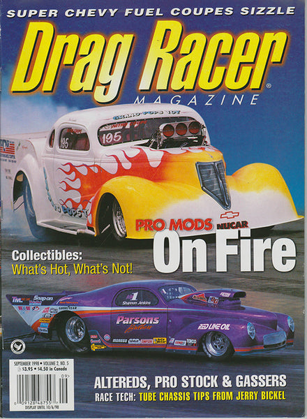 September 1998 Drag Racer Magazine Cover