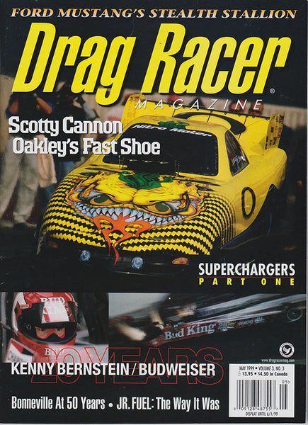 May 1999 Drag Racer Magazine Cover Scotty Canon Funny Car