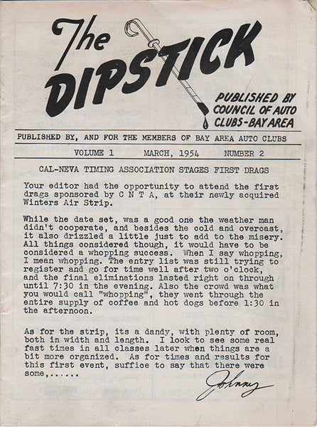 The Dipstick March 1954 Volume 1 Number 2 - Nitroactive.net