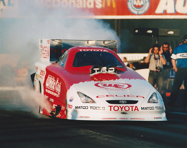 Gary Scelzi Toyota Funny Car Burnout 8x10 Color Photo
