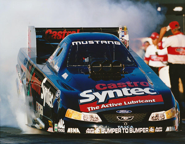 Tony Pedregon Castrol Syntec Mustang Funny Car Burnout 8x10 Color Photo