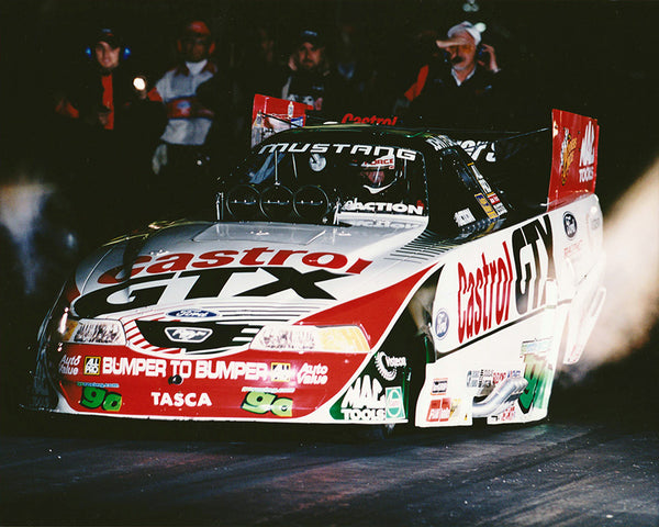 John Force Castrol GTX Mustang Funny Car 8x10 Color Photo