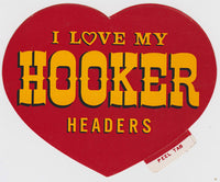 Original NOS I Love My Hooker Headers Sticker - Nitroactive.net