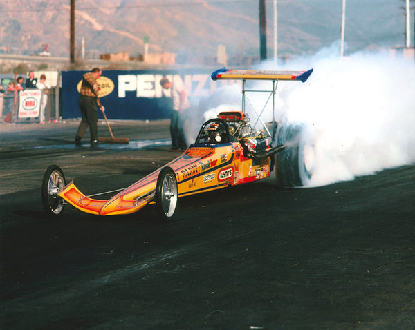 Tony Nancy Top Fuel Dragster Burnout 8x10 Color Photo