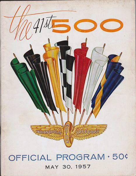 41st Indianapolis 500 Official Program 1957 - Nitroactive.net