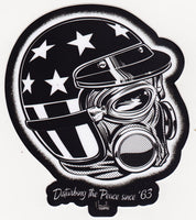 Norwell Equipped Disturbing the Peace Vintage Top Fuel Pilot  Die Cut Sticker