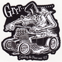 Norwell Equipped Die Cut Wolf Hot Rod Sticker