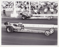 Beebe & Mulligan Vs Don Prudhomme 8x10 Black and White Photo Winternationals