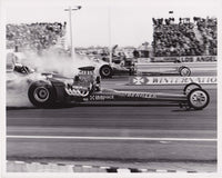Al Bergler Dragster 8x10 Black and White Photo 1969 Pomona