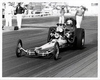 Don The Snake Prudhomme Top Fuel Dragster 8x10 Black and White Photo