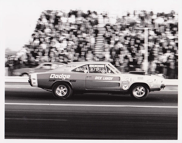 Dick Landy Dodge Charger 8x10 Black and White Photo