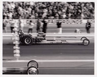 Don The Snake Prudhomme Vintage Dragster 8x10 Black and White Photo