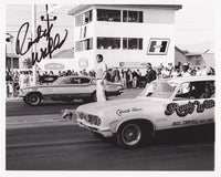 Randy Walls Nova Funny Car Signed 8x10 Black and White Photo