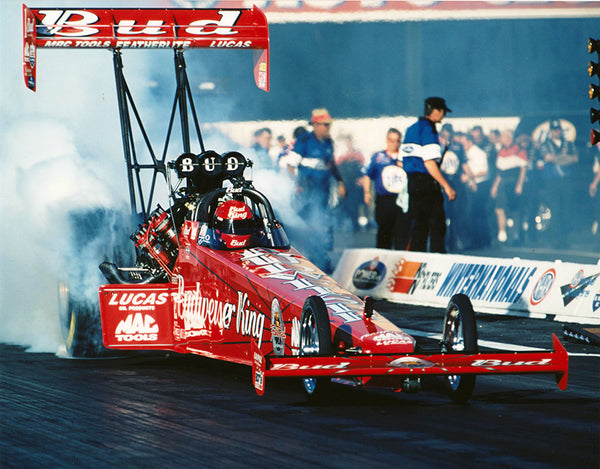 Kenny Bernstein Budweiser King Dragster 8x10 Color Photo