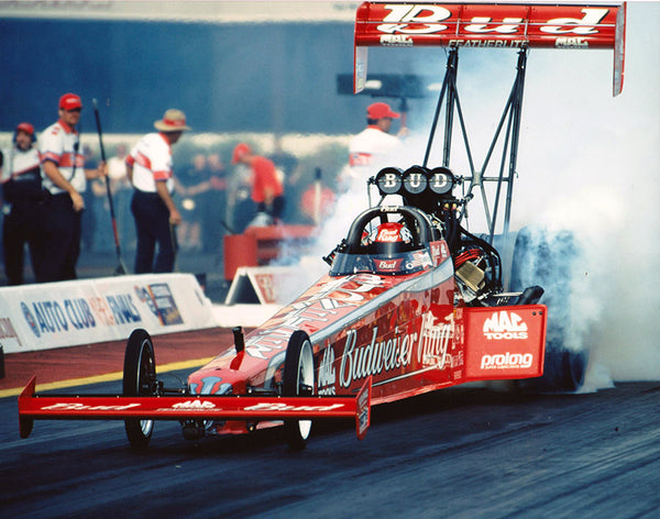 Kenny Bernstein Budweiser King Top Fuel Dragster Color 8x10 Photo