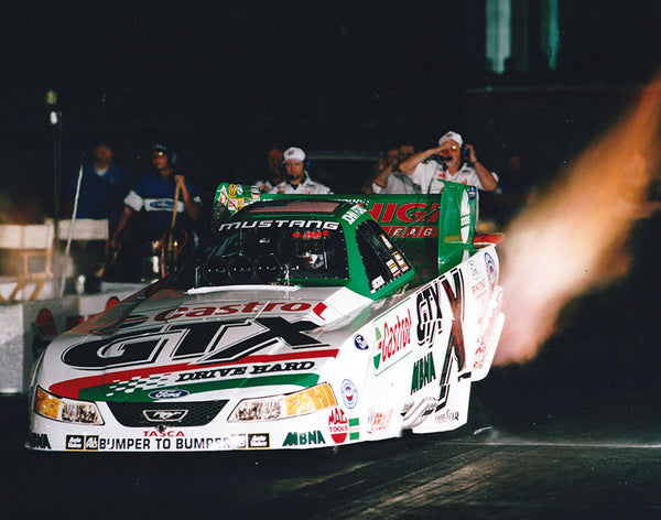 John Force Mustang Funny Car 8x10 Color Photo 2002
