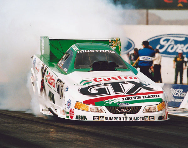 John Force Mustang Funny Car Burnout 8x10 Color Photo