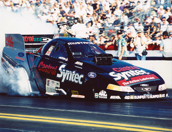 Tony Pedregon Mustang Funny Car Burnout 2003 Winternationals Color 8x10 Photo