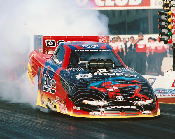 Dean Skuza Spider Man Dodge R/T Funny Car 8x10 Color Photo