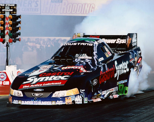 Tony Pedregon Monsters Castrol Syntec Mustang Funny Car Color 87x10 Photo