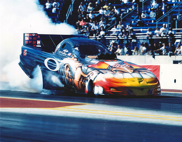 Scotty Cannon Oakley Mad Professor Funny Car 2003 Burnout 8x10 Color Photo