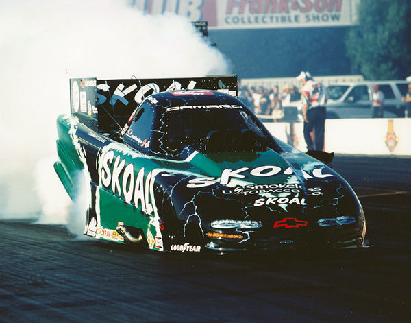 Ron Capps Green Skoal Camaro Funny Car 2001 8x10 Color Photo