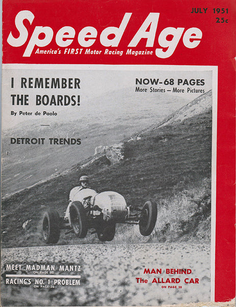April 1952 Speed Age Magazine Cover