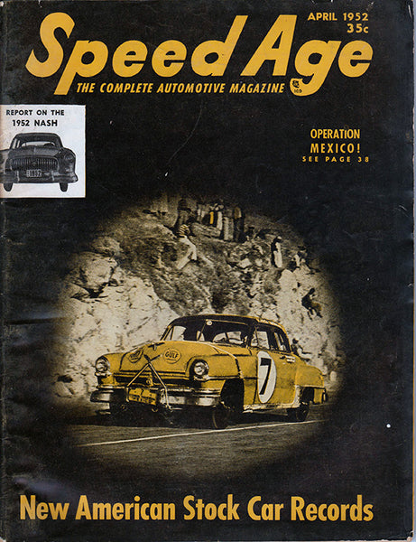 September 1952 Speed Age Magazine Cover View