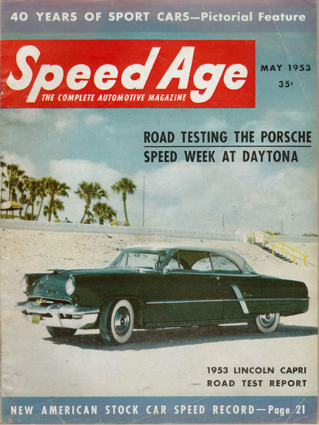 May 1953 Speed Age Magazine Cover Lincoln Capri