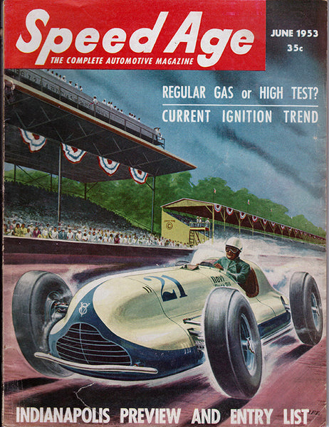 June 1953 Speed Age Magazine Cover Vintage Indy Car
