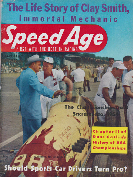 January 1955 Speed Age Magazine Cover
