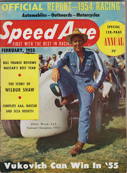 February 1955 Speed Age Magazine Cover