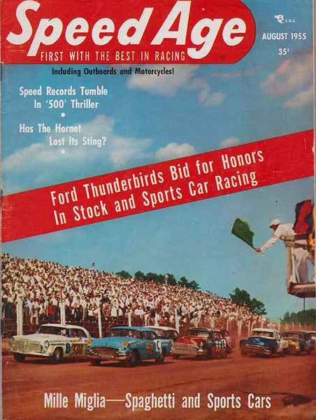 August 1955 Speed Age Magazine Cover Stock Car Racing