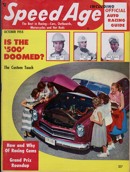 October 1955 Speed Age Magazine Cover
