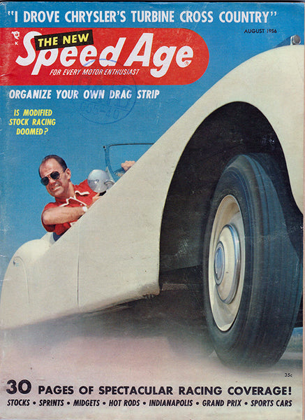 August 1956 Speed Age Magazine