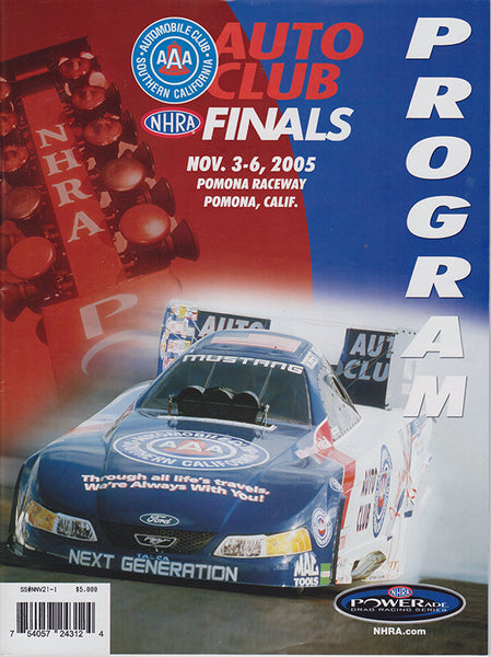 NHRA Drag Racing 2005 Auto Club Finals Program - Nitroactive.net