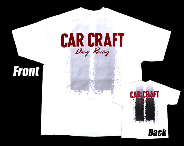 Car Craft Drag Racing White T-Shirt