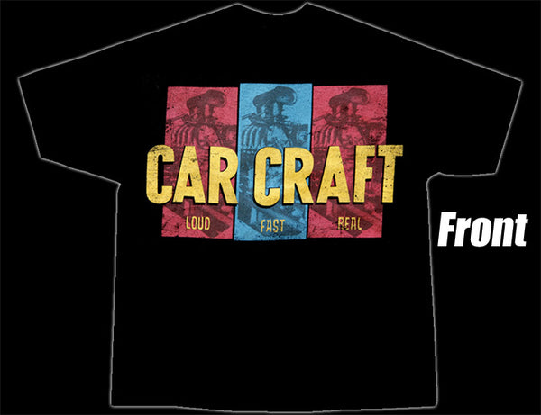 Car Craft - Loud-Fast-Real T-Shirt Black - Nitroactive.net