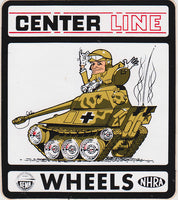 Center Line Wheels Tank Sticker 1970s - Nitroactive.net