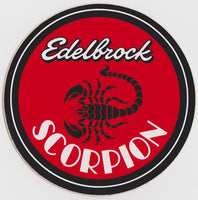 Edelbrock Scorpion Sticker 1970s - Nitroactive.net
