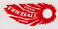 NOS Original 1970s Crane Fireball Cam Sticker