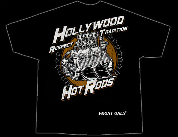 Hollywood Hot Rods Full Race Flatty T-Shirt - Nitroactive.net