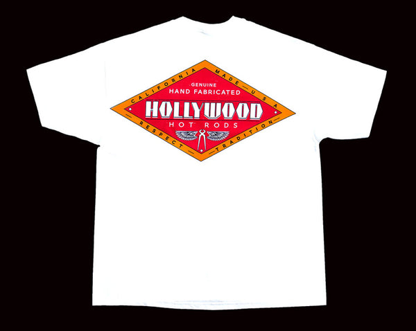 Hollywood Hot Rods Diamond White T-Shirt - Nitroactive.net