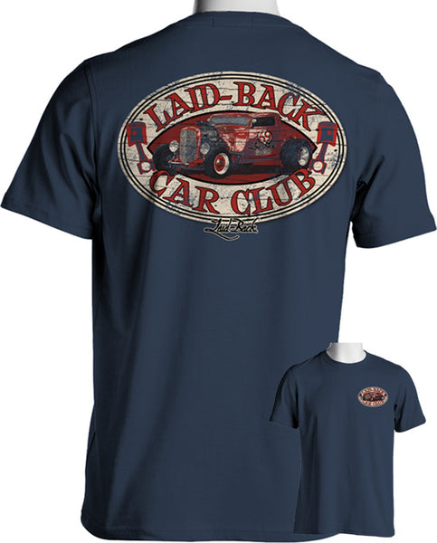 Laid-Back Car Club T-Shirt Blue - Nitroactive.net