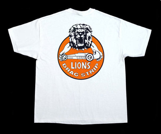 Lions Arms with dragster Drag Strip T-Shirt - Nitroactive.net