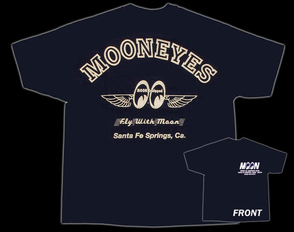 Moon Fly With Moon Navy Blue T-Shirt